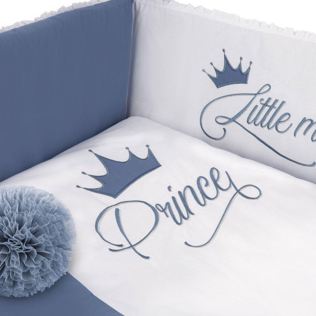 5-dílné ložní povlečení Belisima Royal Baby 100/135 modré