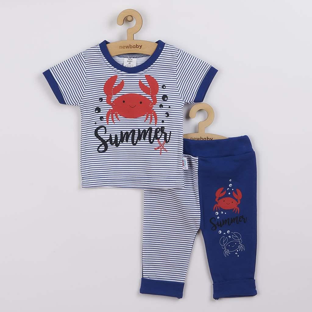 Kojenecké tričko s krátkým rukávem a tepláčky New Baby Summer-62 (3-6m)