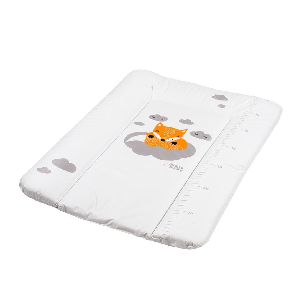 Přebalovací podložka měkká New Baby Liška bílá 70x50cm