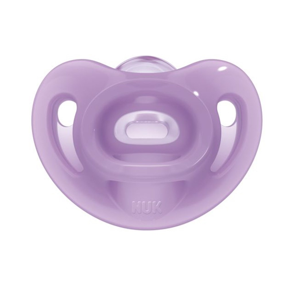 Silikonové šidítko Sensitive NUK 6-18m fialový