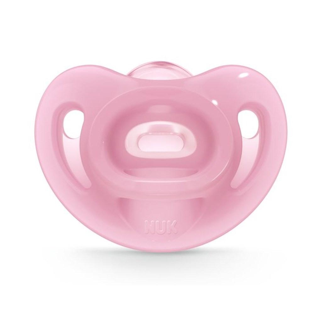 Silikonové šidítko Sensitive NUK 6-18m růžový, Velikost: 6-18 m