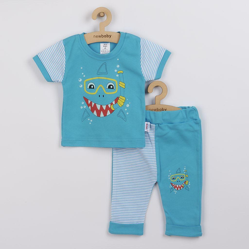Kojenecké tričko s krátkým rukávem a tepláčky New Baby Shark, 68 (4-6m)