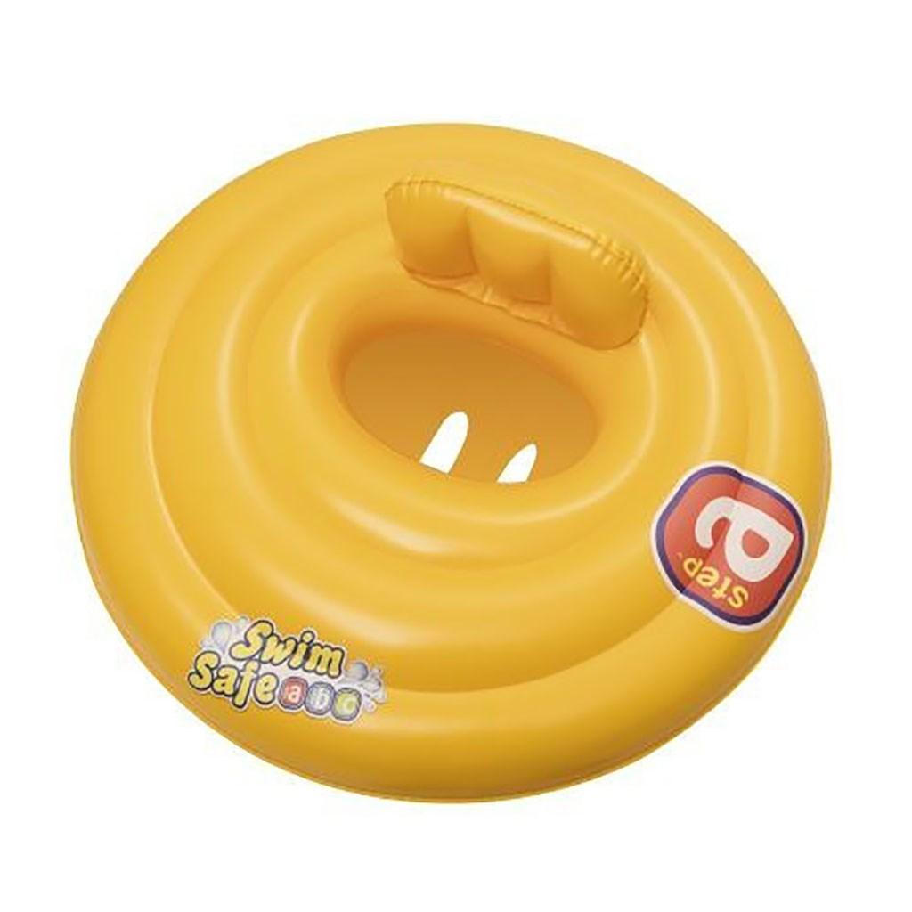 Dětský nafukovací kruh se třemi pruhy Bestway žlutý
