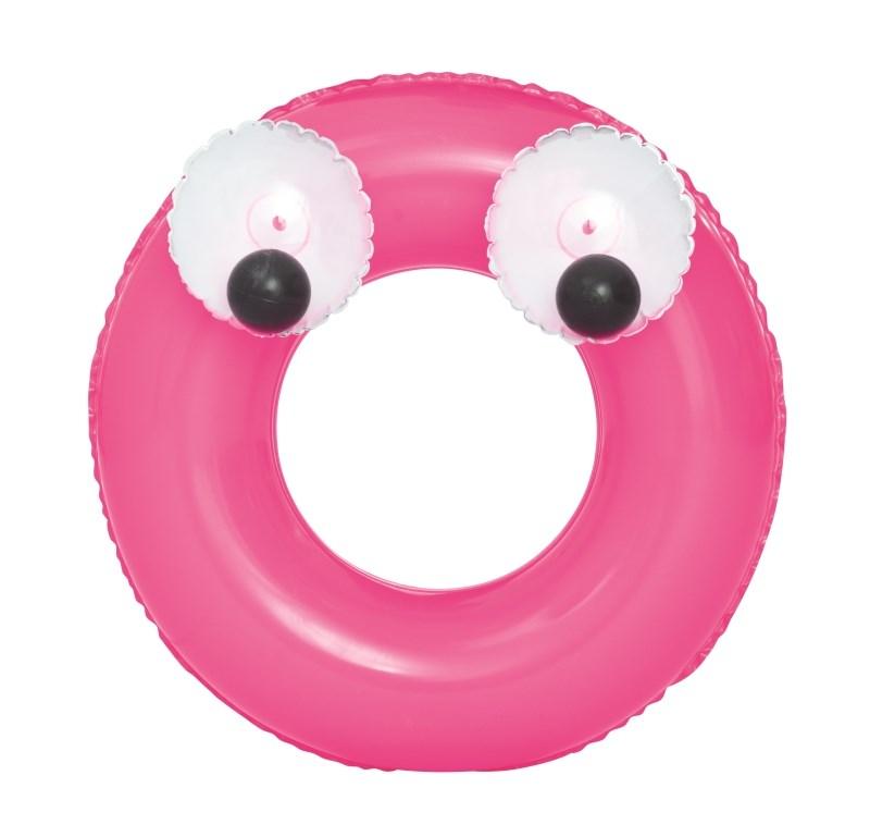 Dětský nafukovací kruh Bestway Big Eyes růžový