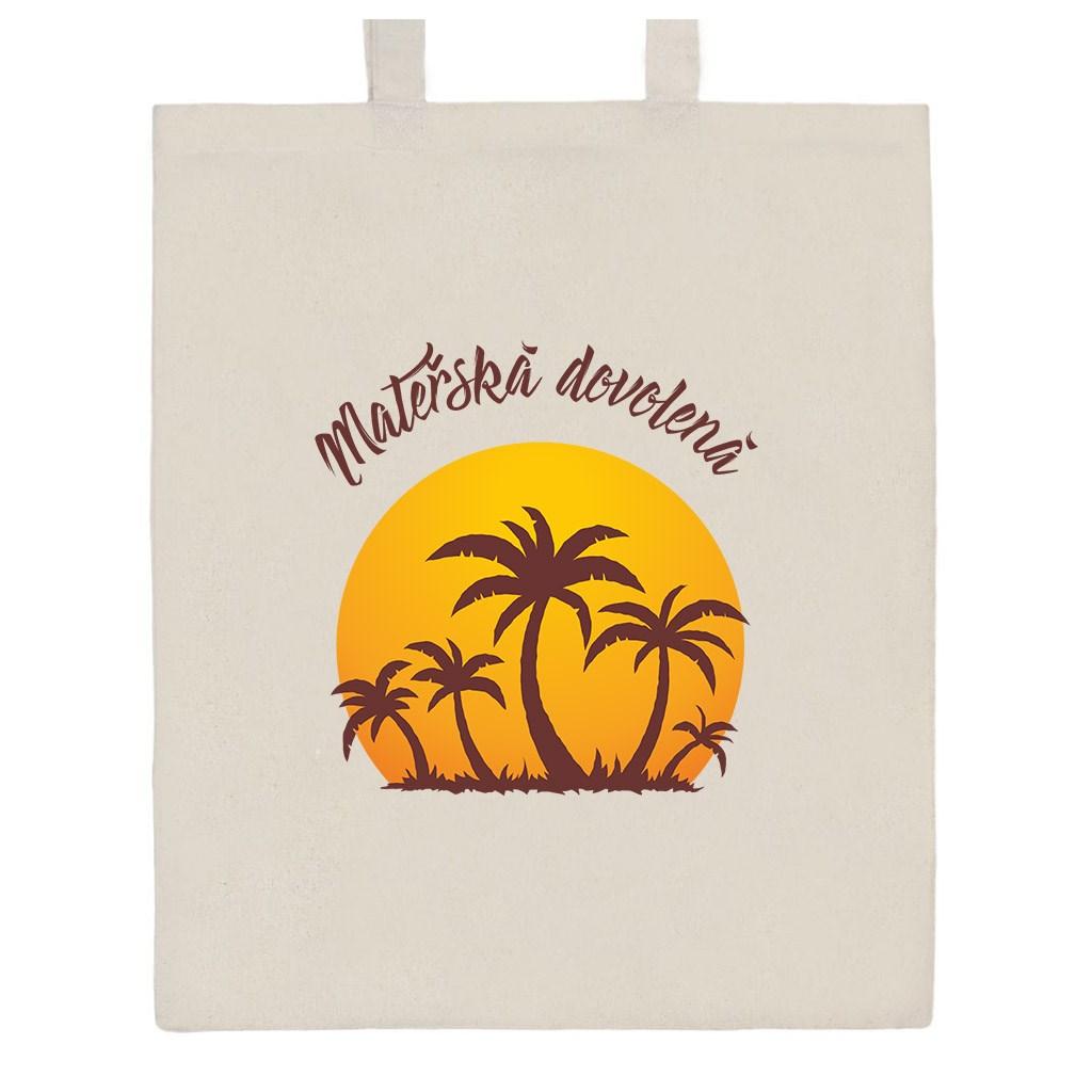 Bavlněná nákupní taška přírodní s potiskem New Baby Mateřská dovolená