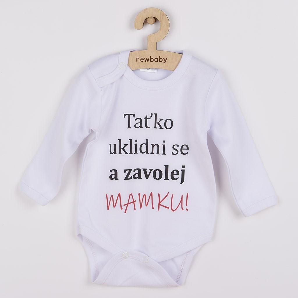 Body s potiskem New Baby a zavolej MAMKU! vel. 50