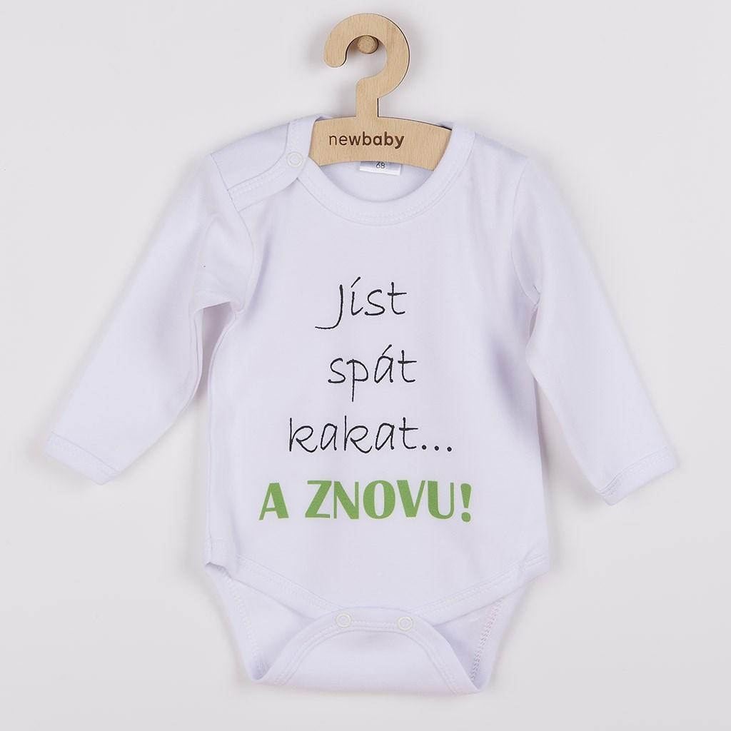 Body s potiskem New Baby jíst spát kakat... A ZNOVU!, 62 (3-6m)