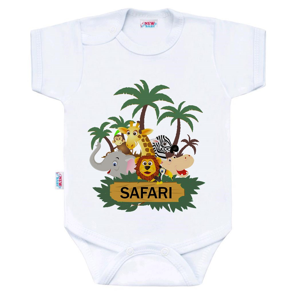 Body s potiskem New Baby SAFARI vel. 50