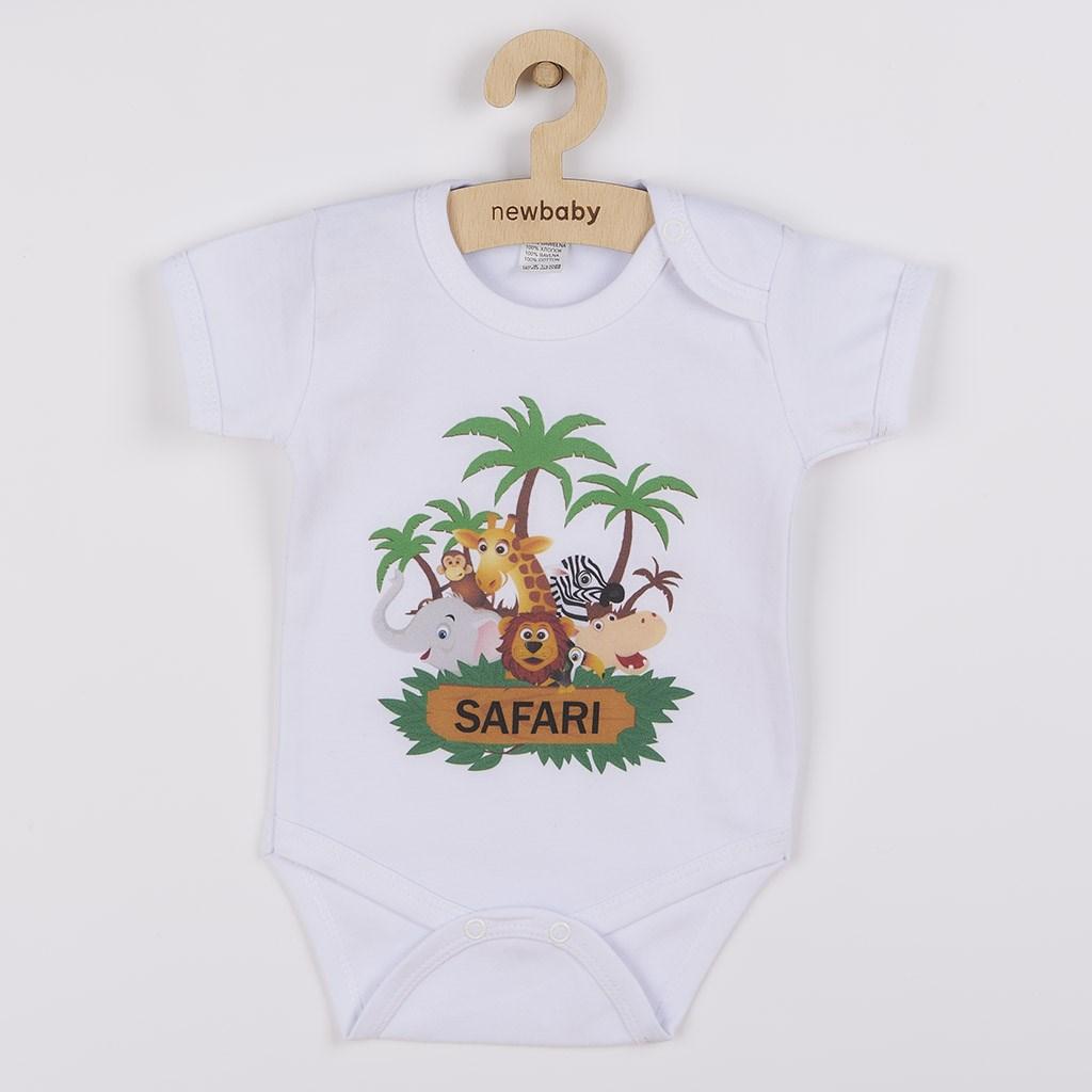 Body s potiskem New Baby SAFARI vel. 56 (0-3m)