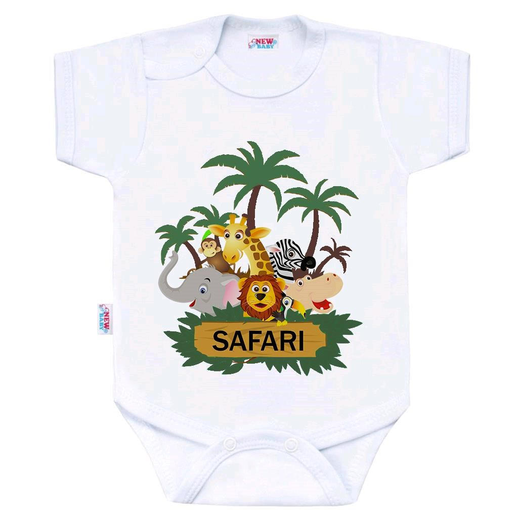 Body s potiskem New Baby SAFARI, 74 (6-9m)