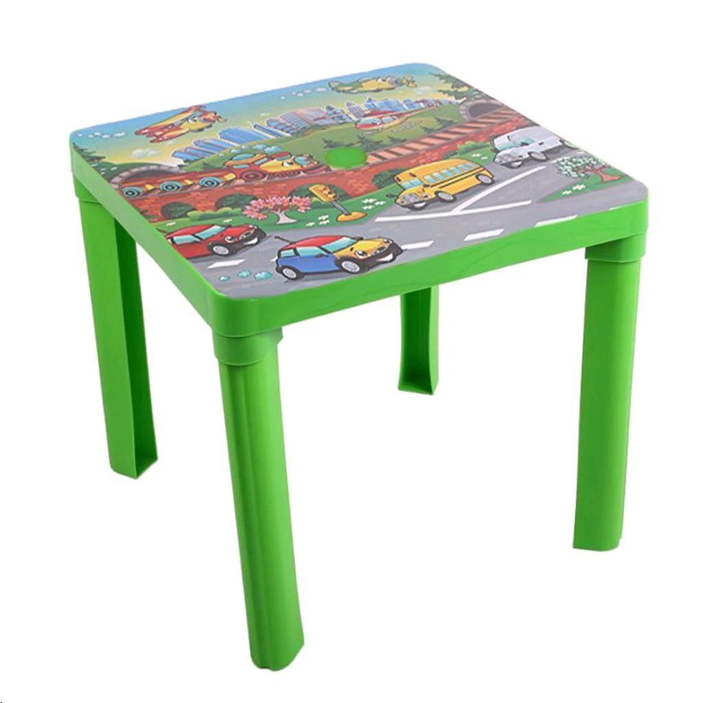 Dětský zahradní nábytek - Plastový stůl auta zelený