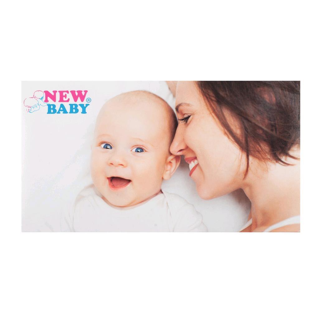 Polovyztužená kojící podprsenka New Baby Eva 70D bílá