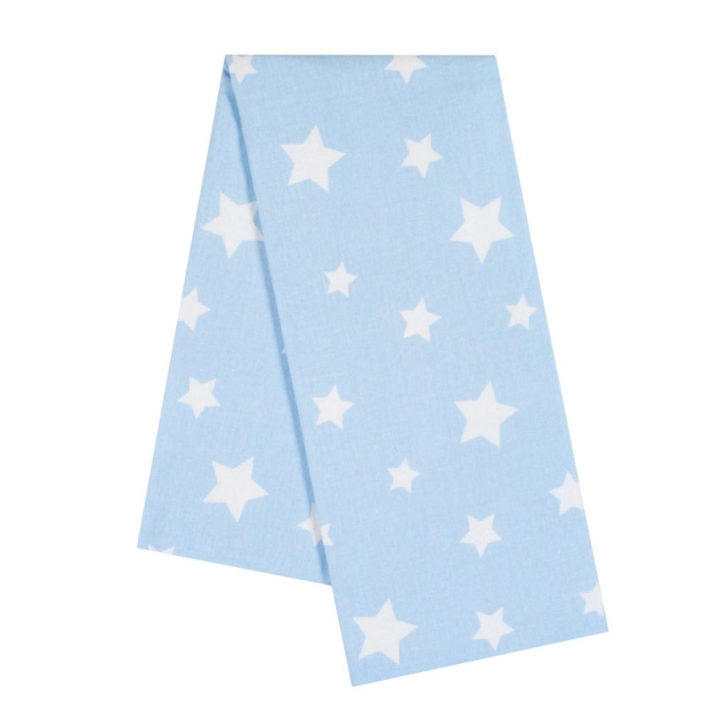 Flanelová plena s potiskem New Baby modrá hvězdy bílé