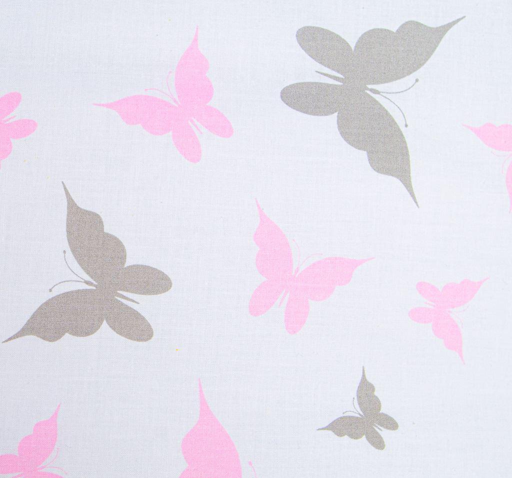 3-dílné ložní povlečení New Baby 90/120 cm bílé motýli