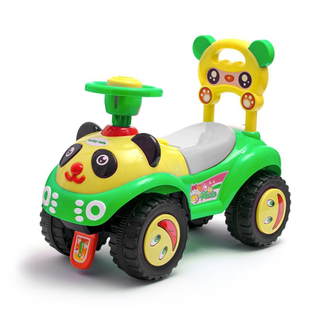 Dětské odrážedlo se zvukem Baby Mix Panda zelené