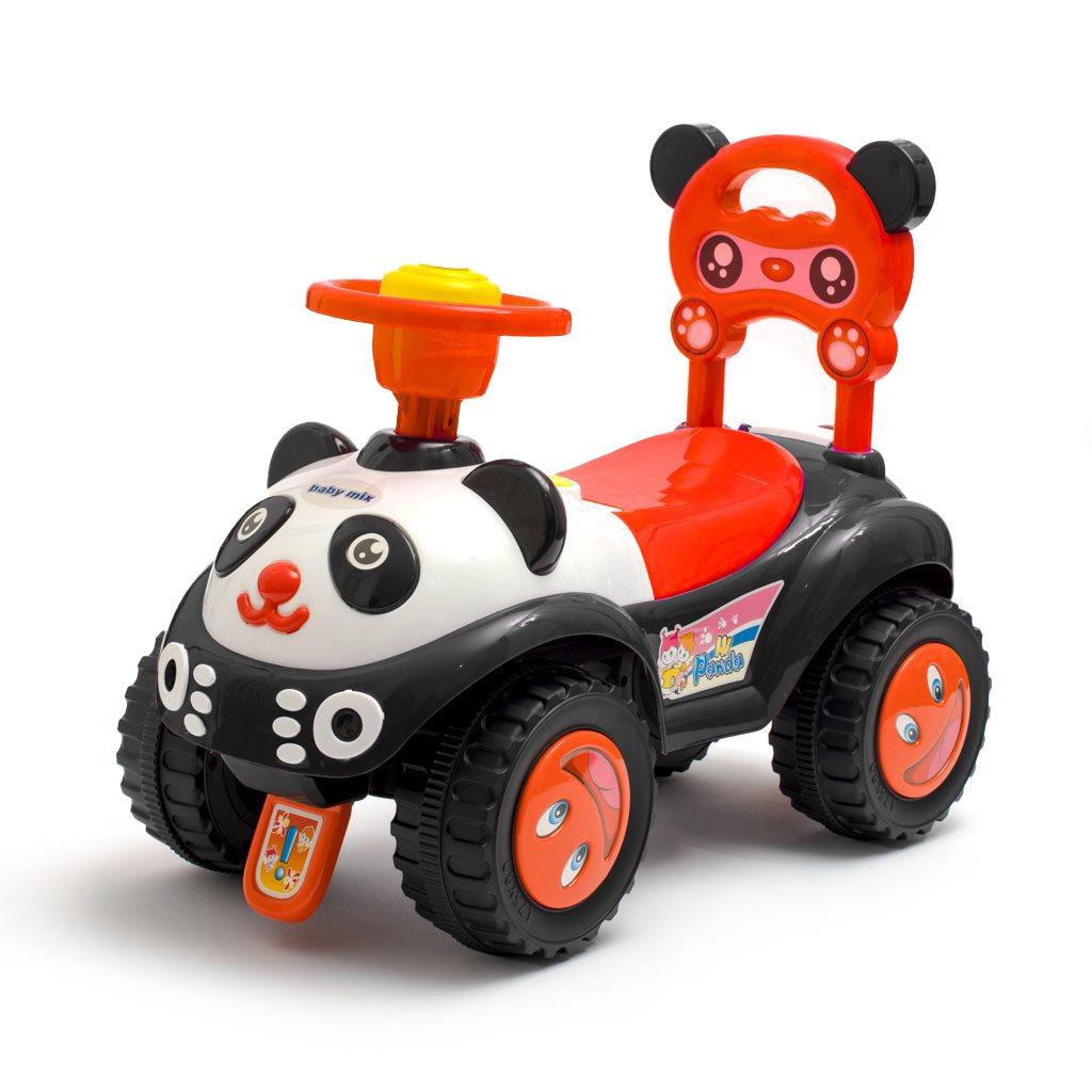 Dětské odrážedlo se zvukem Baby Mix Panda černé
