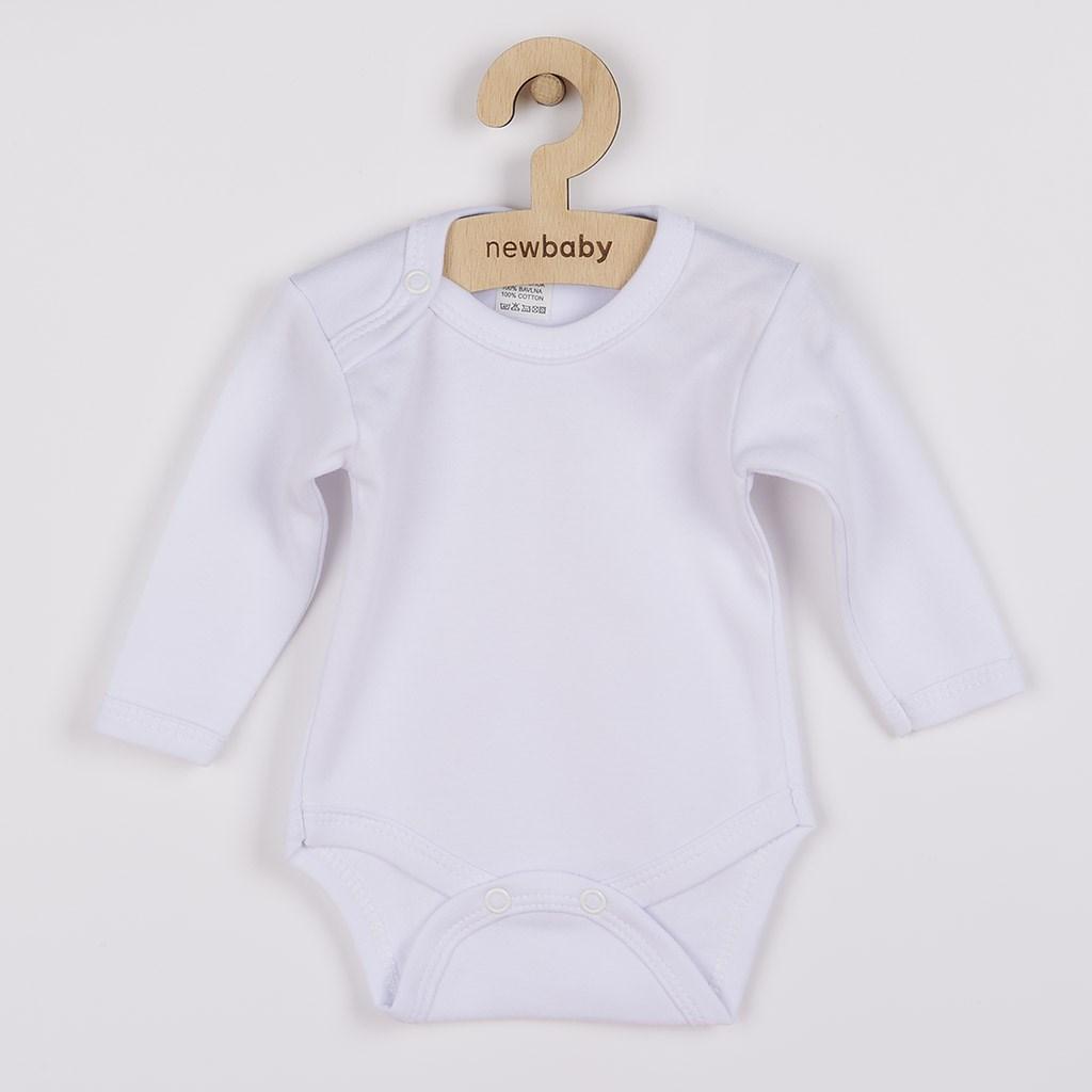 Body dlouhý rukáv New Baby - bílé vel. 50
