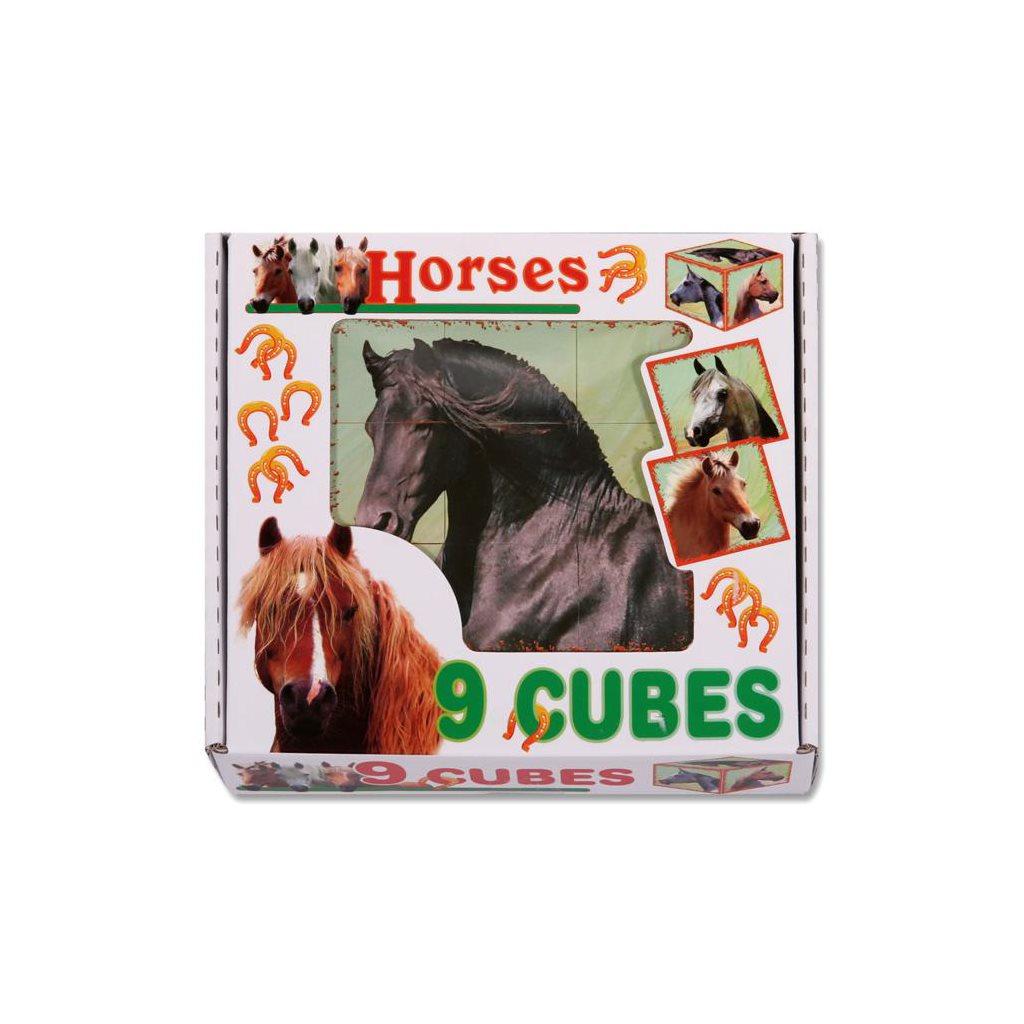 Skládací obrázkové kostky Horses