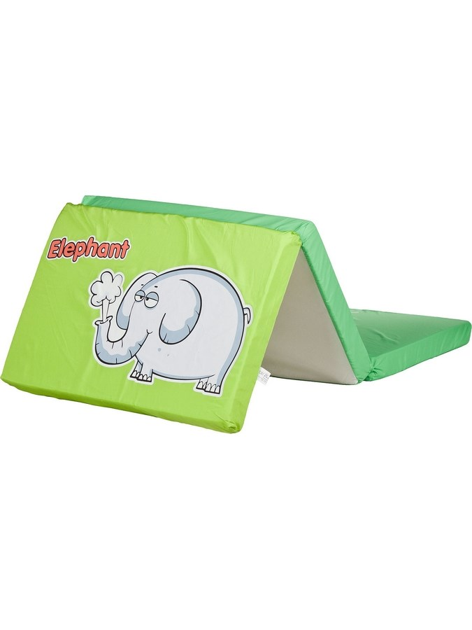 Skládací matrace do postýlky CARETERO Elephant zelená