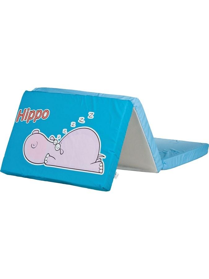 Skládací matrace do postýlky CARETERO Hippo modrá