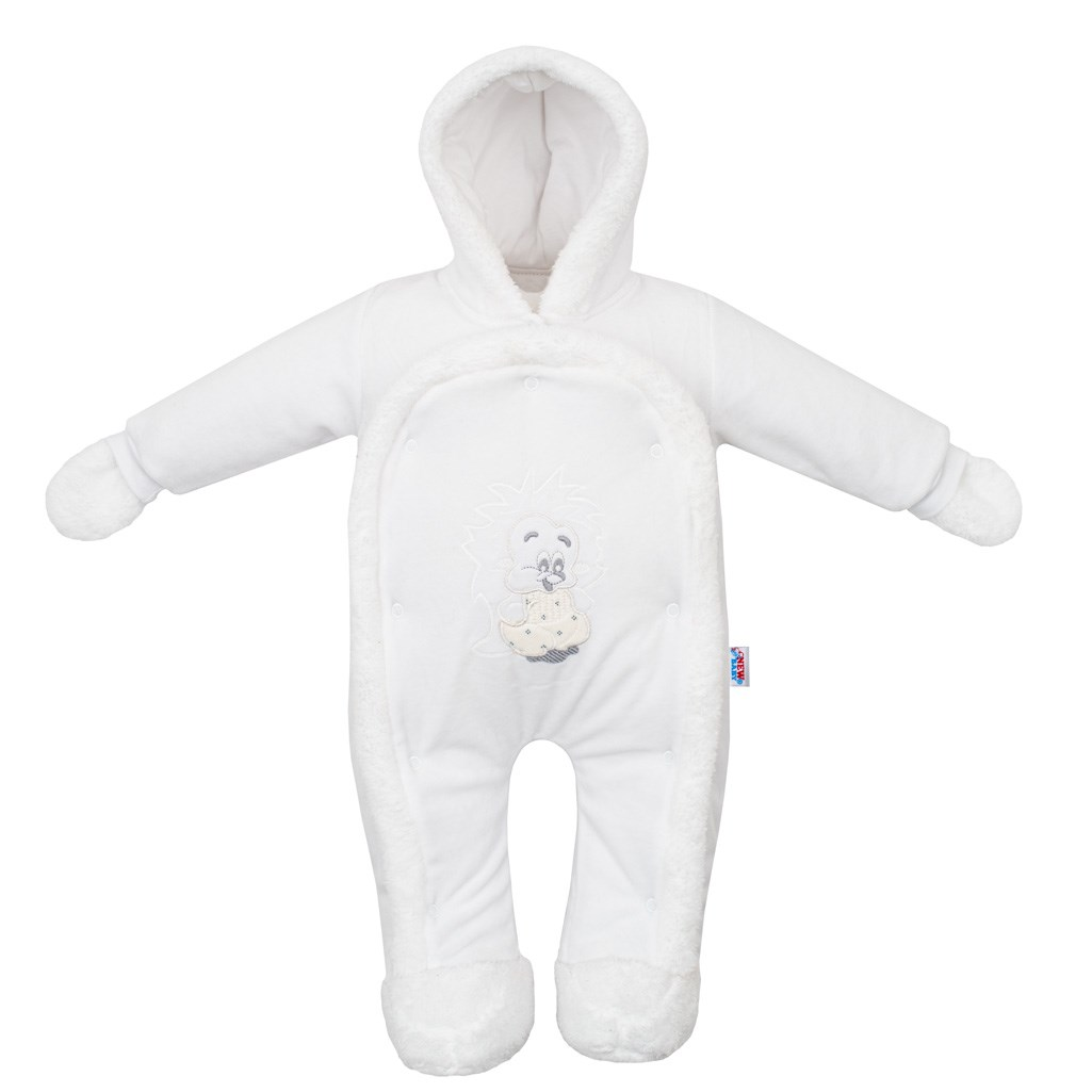 Dětská kombinéza New Baby ježek bílá, Velikost: 56 (0-3m)