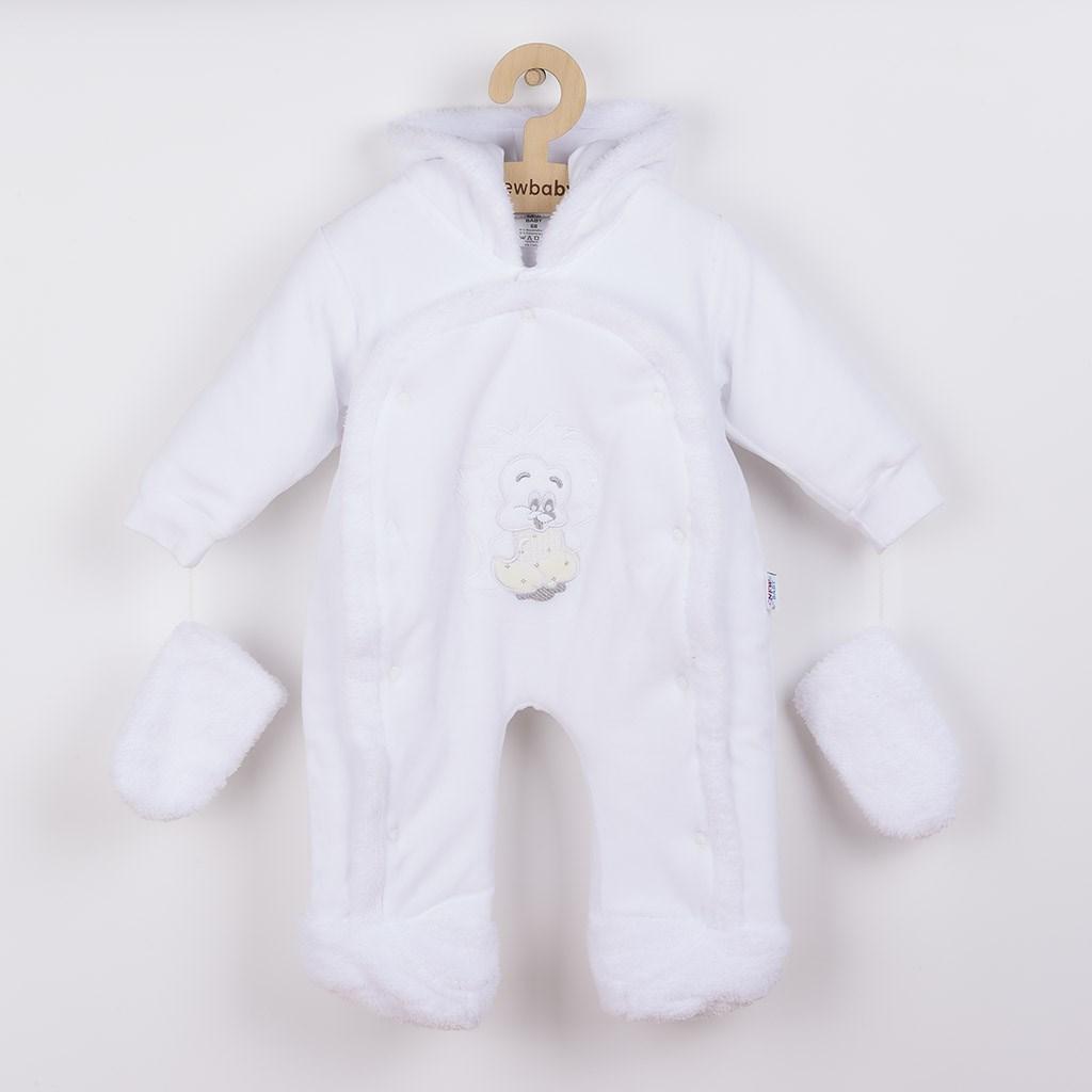 Dětská kombinéza New Baby ježek bílá vel. 68 (4-6m)
