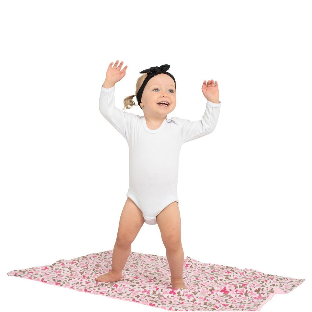 Body dlouhý rukáv New Baby - bílé vel. 56 (0-3m)