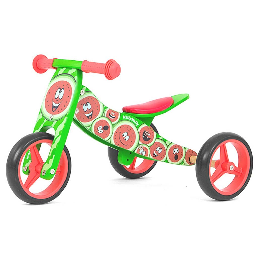 Dětské multifunkční odrážedlo kolo Milly Mally JAKE watermelon