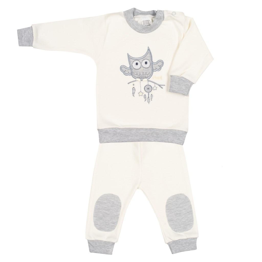 2-dílná kojenecká souprava New Baby Owl béžová vel. 56 (0-3m)