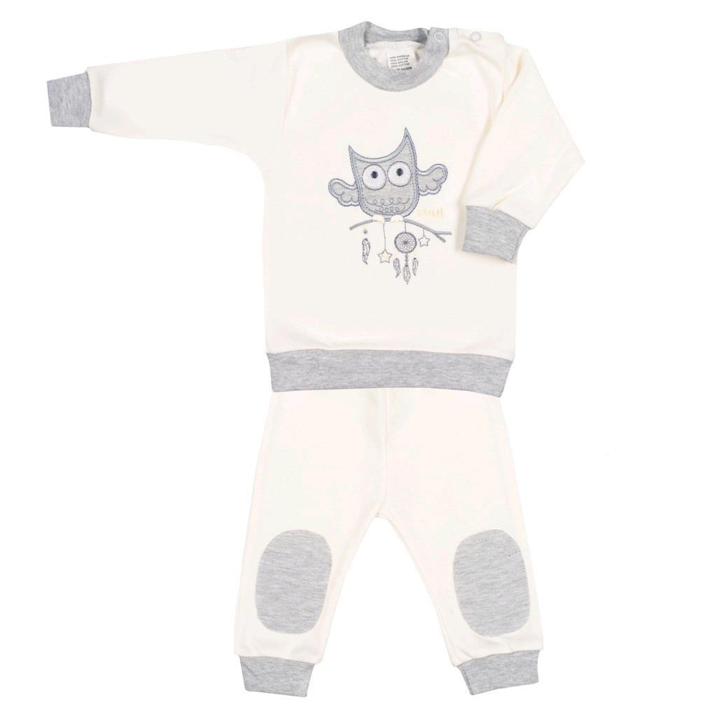 2-dílná kojenecká souprava New Baby Owl béžová vel. 68 (4-6m)