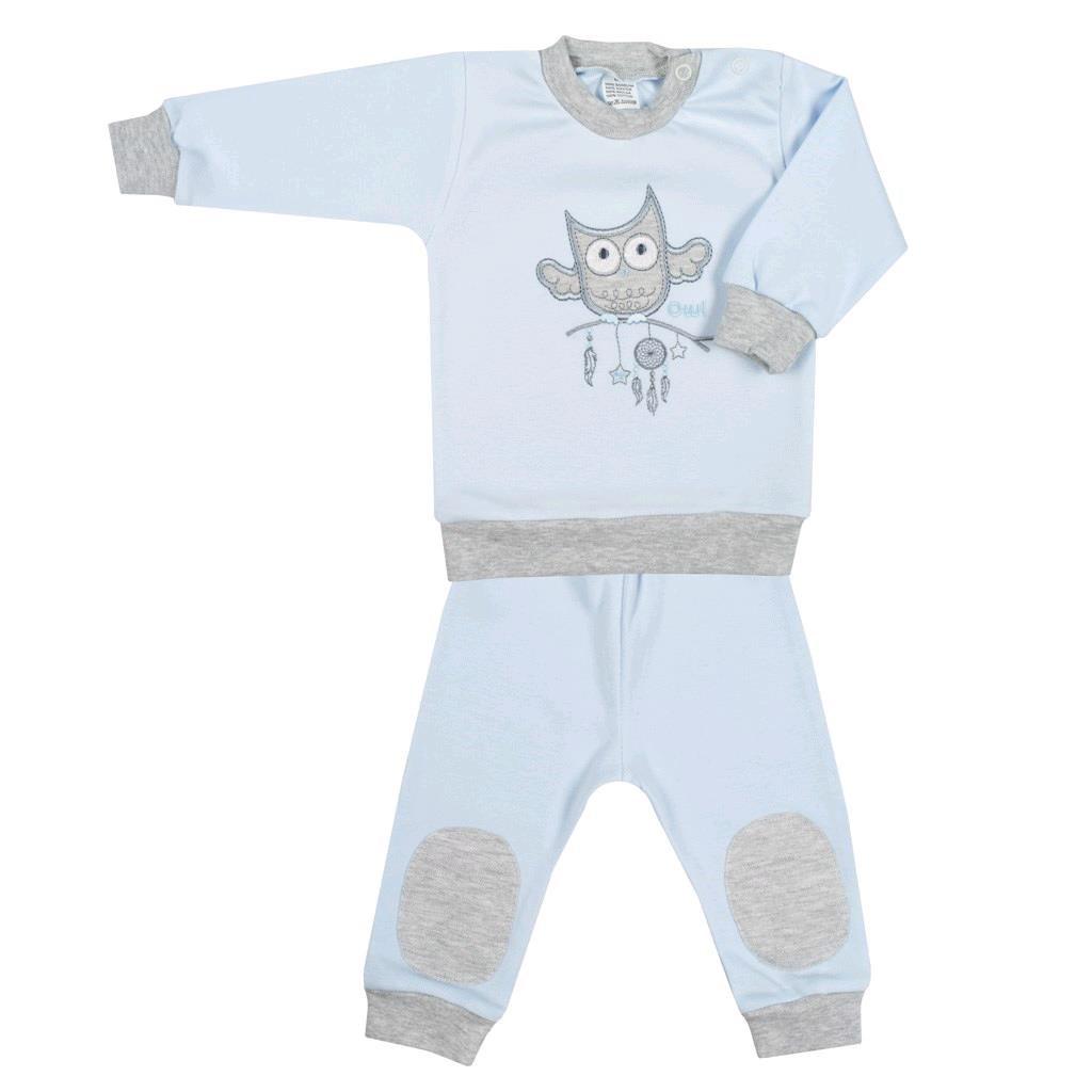 2-dílná kojenecká souprava New Baby Owl modrá vel. 80 (9-12m)