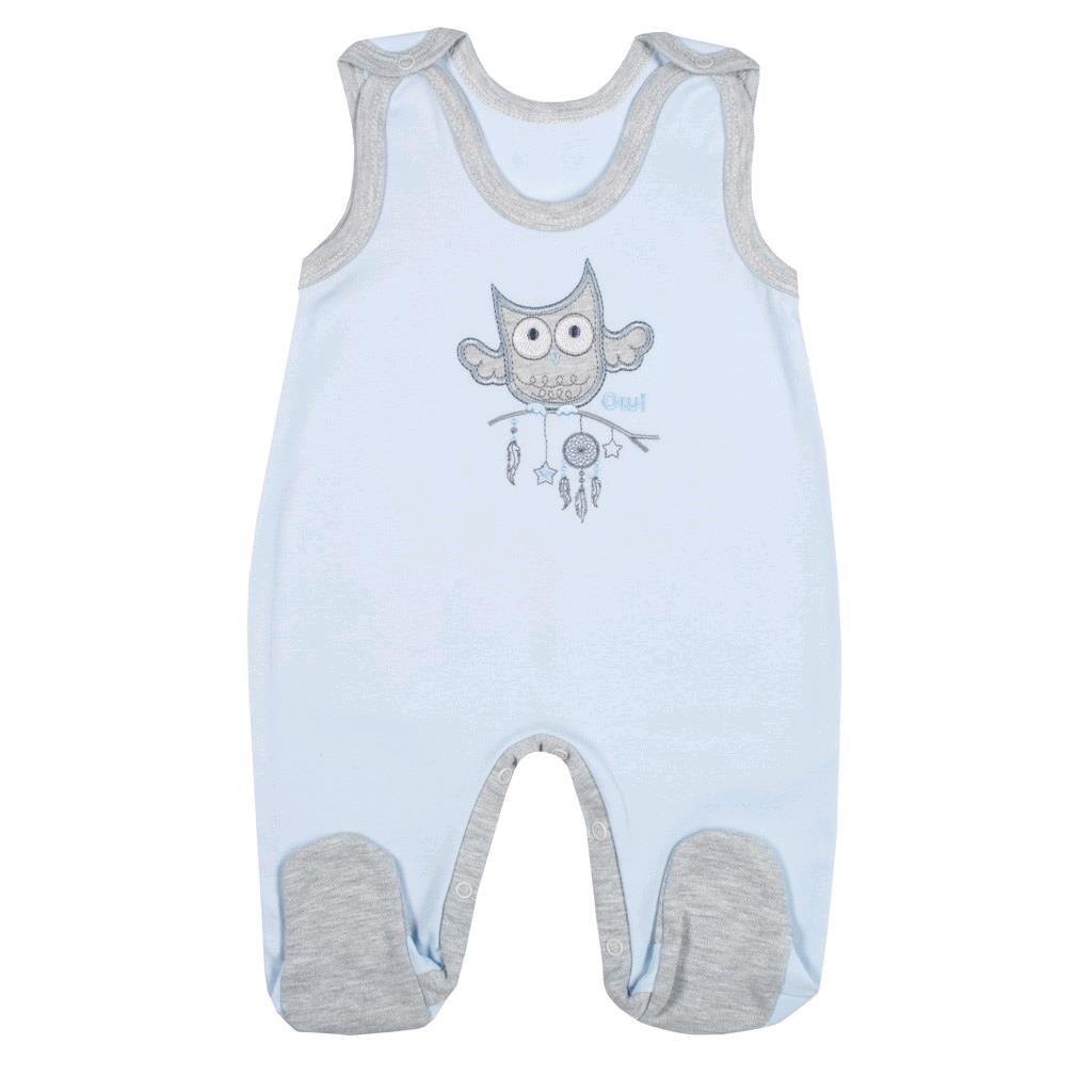 Kojenecké dupačky New Baby Owl modré, 74 (6-9m)