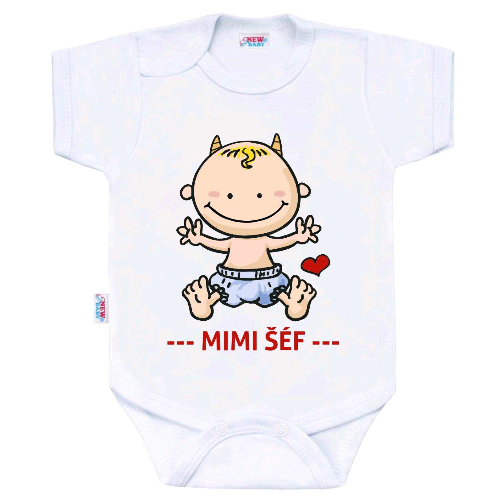Body s potiskem New Baby MIMI ŠÉF vel. 56 (0-3m)