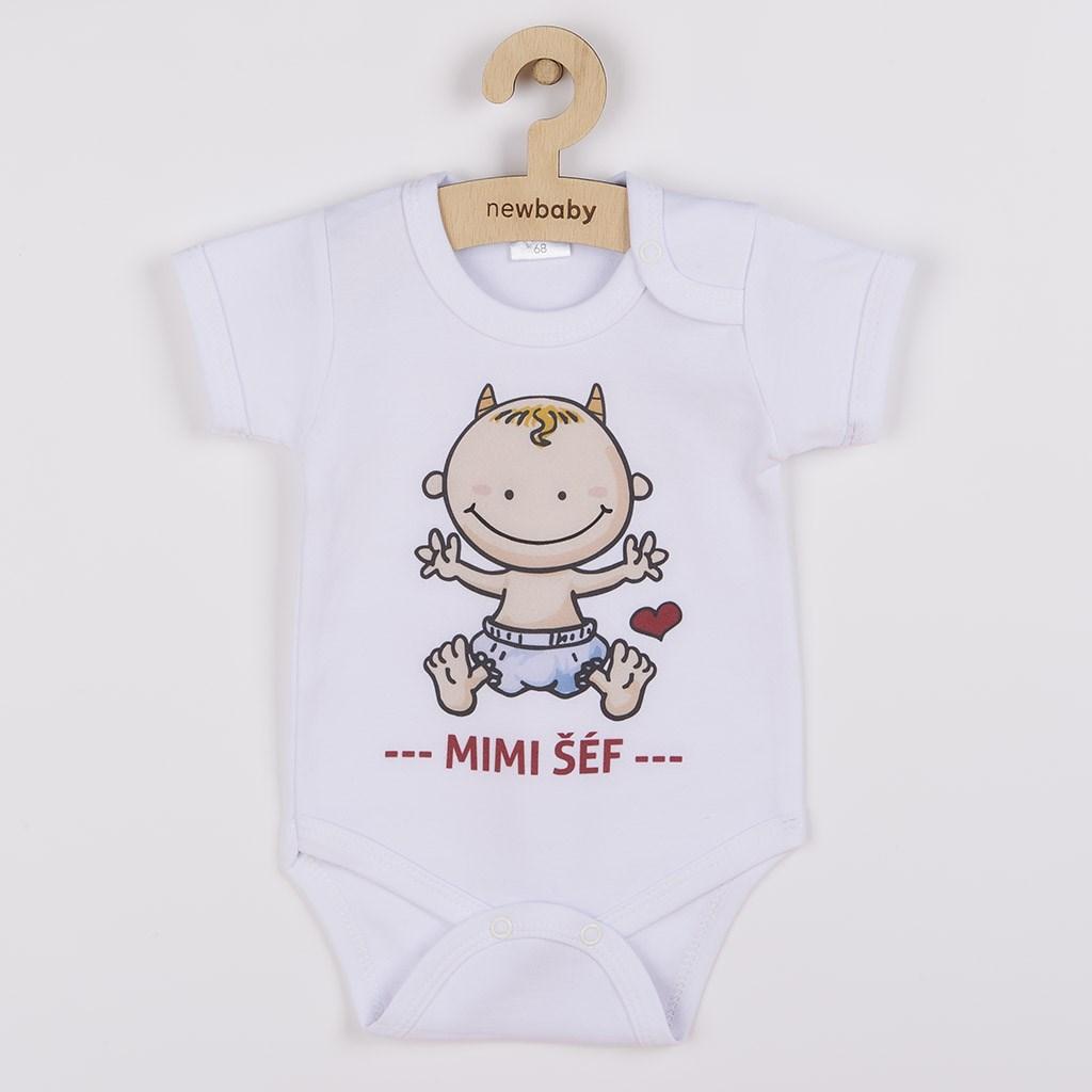 Body s potiskem New Baby MIMI ŠÉF, Velikost: 68 (4-6m)