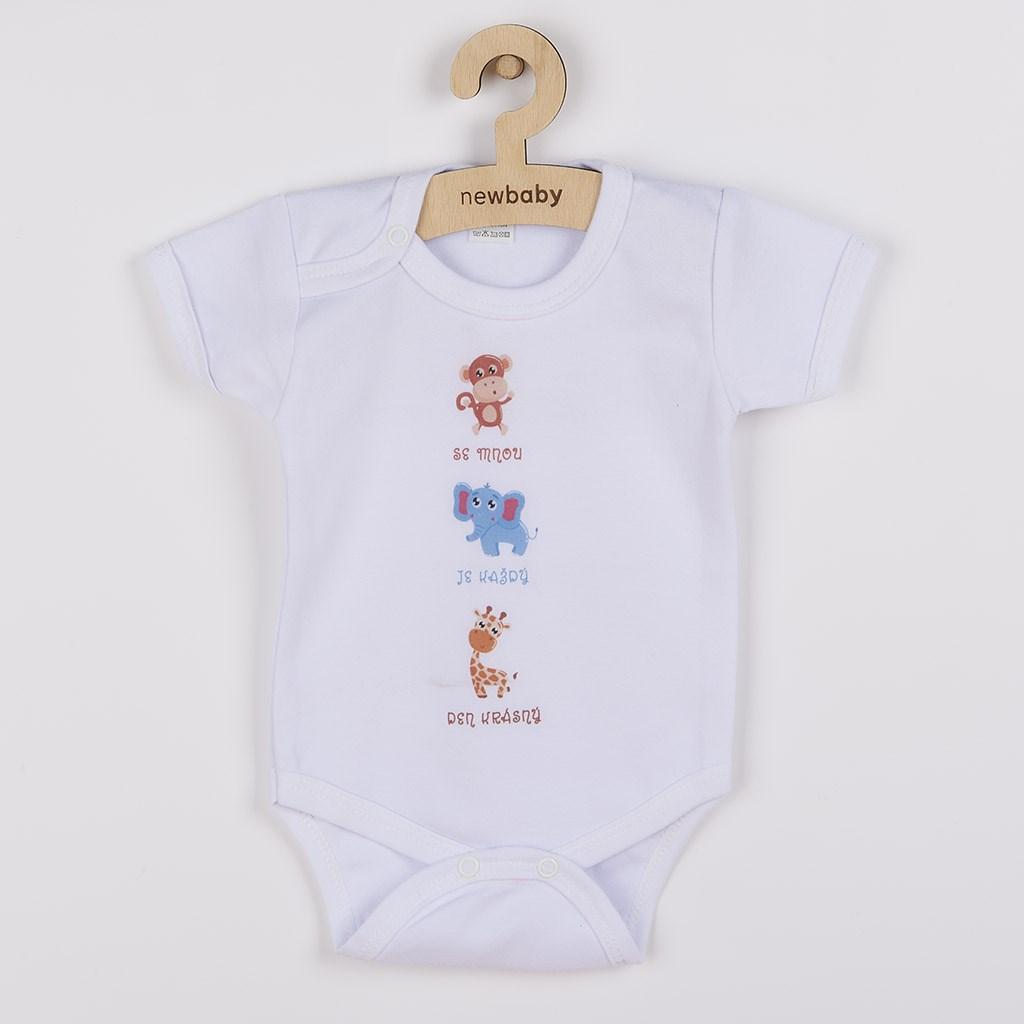 Body s potiskem New Baby ...Krásný Den, Velikost: 80 (9-12m)