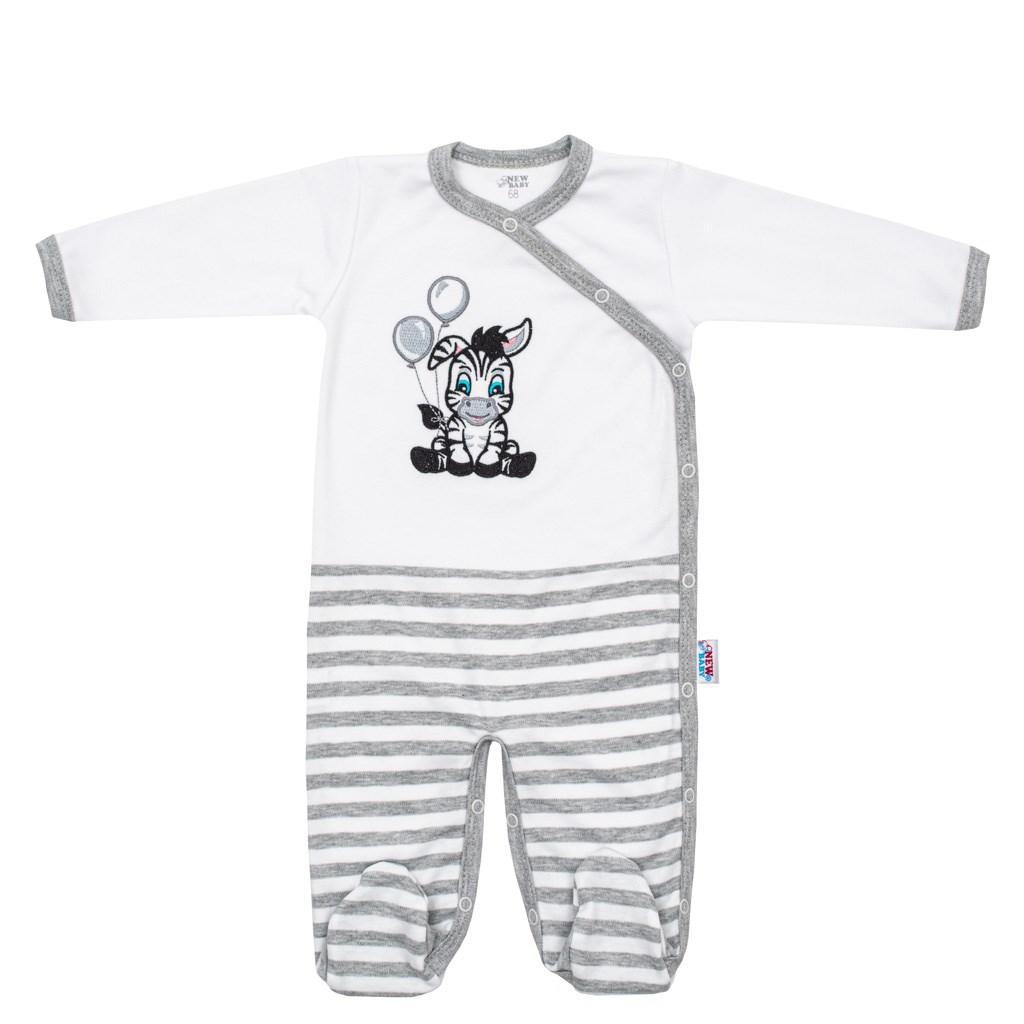 Kojenecký bavlněný overal New Baby Zebra exclusive vel. 62 (3-6m)