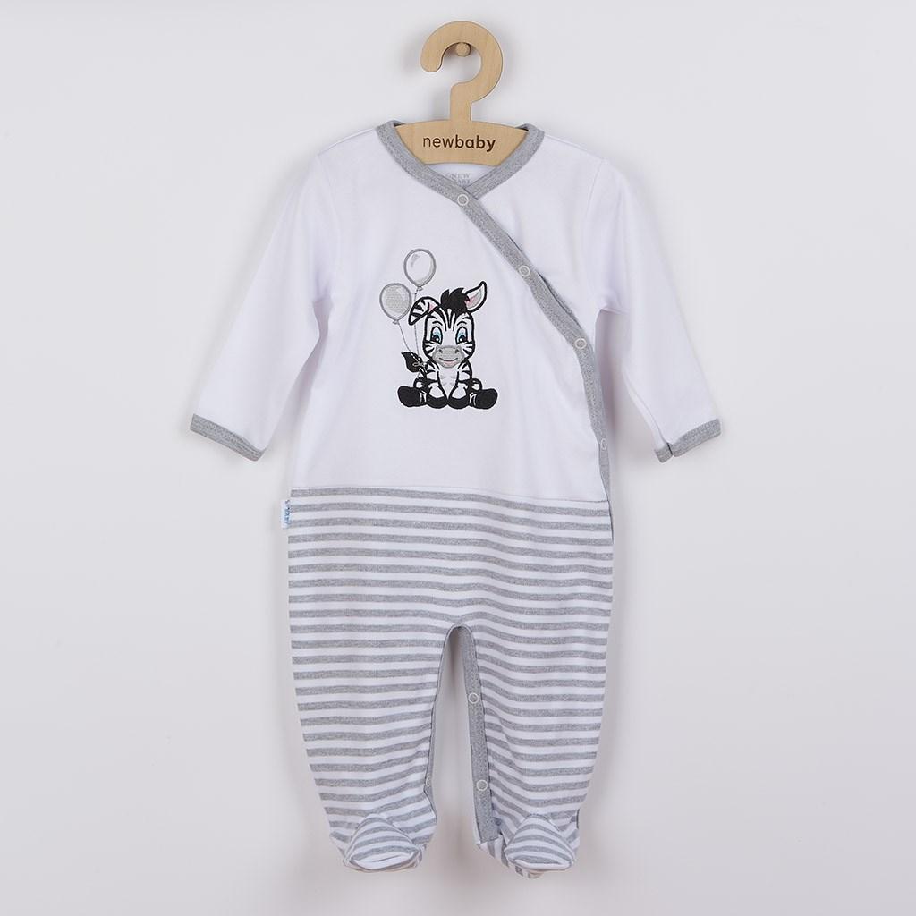 Kojenecký bavlněný overal New Baby Zebra exclusive vel. 74 (6-9m)