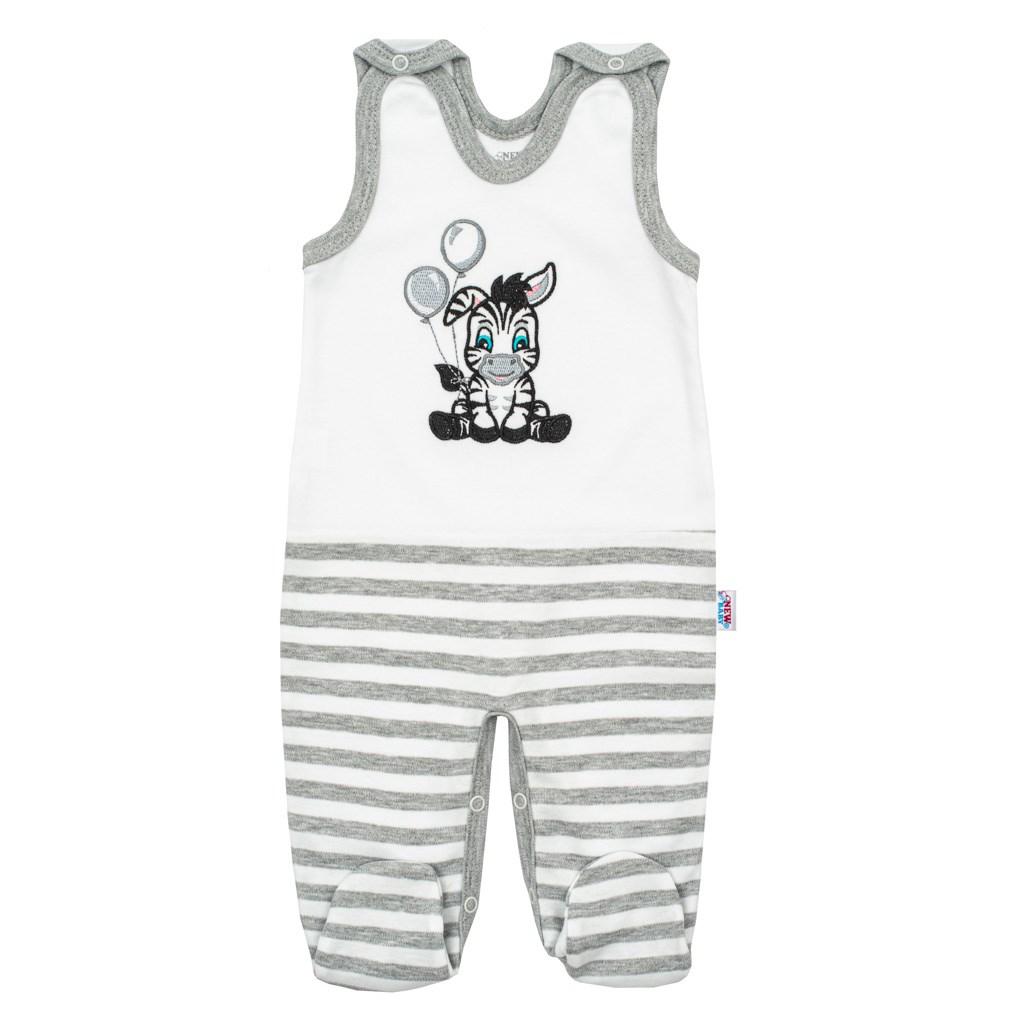 Kojenecké bavlněné dupačky New Baby Zebra exclusive vel. 62 (3-6m)