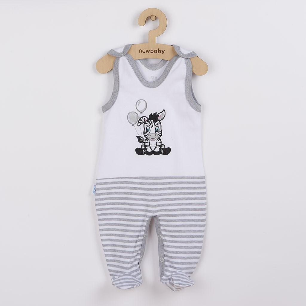 Kojenecké bavlněné dupačky New Baby Zebra exclusive vel. 74 (6-9m)