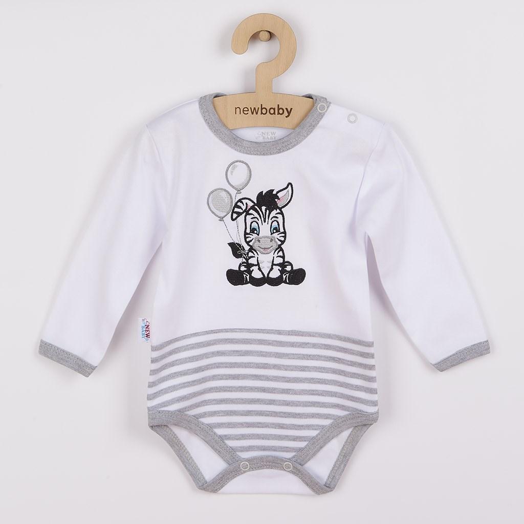 Kojenecké bavlněné body New Baby Zebra exclusive