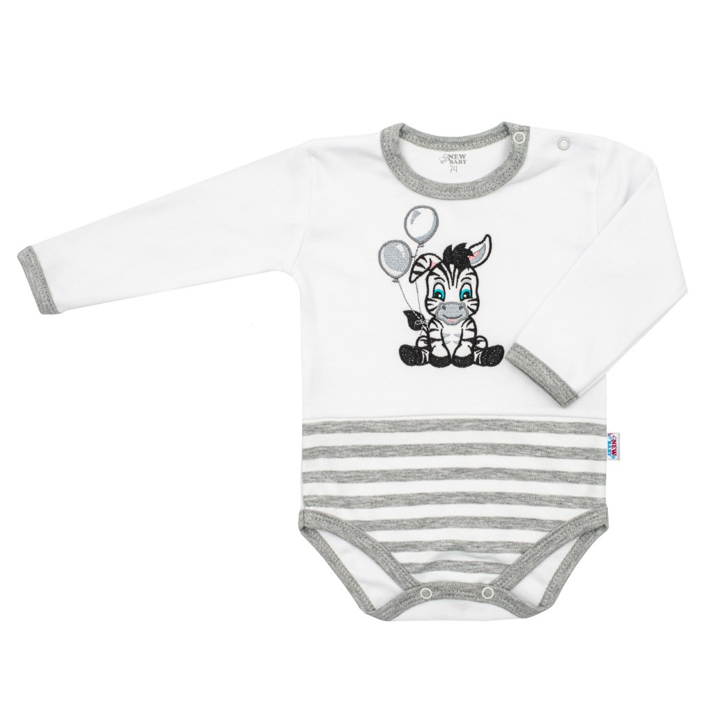 Kojenecké bavlněné body New Baby Zebra exclusive, 86 (12-18m)