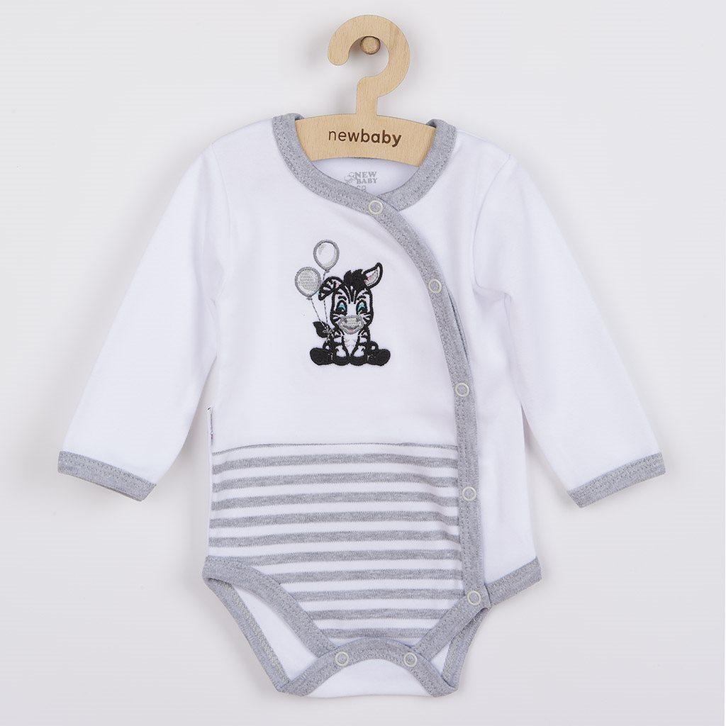 Kojenecké bavlněné celorozepínací body New Baby Zebra exclusive, 68 (4-6m)