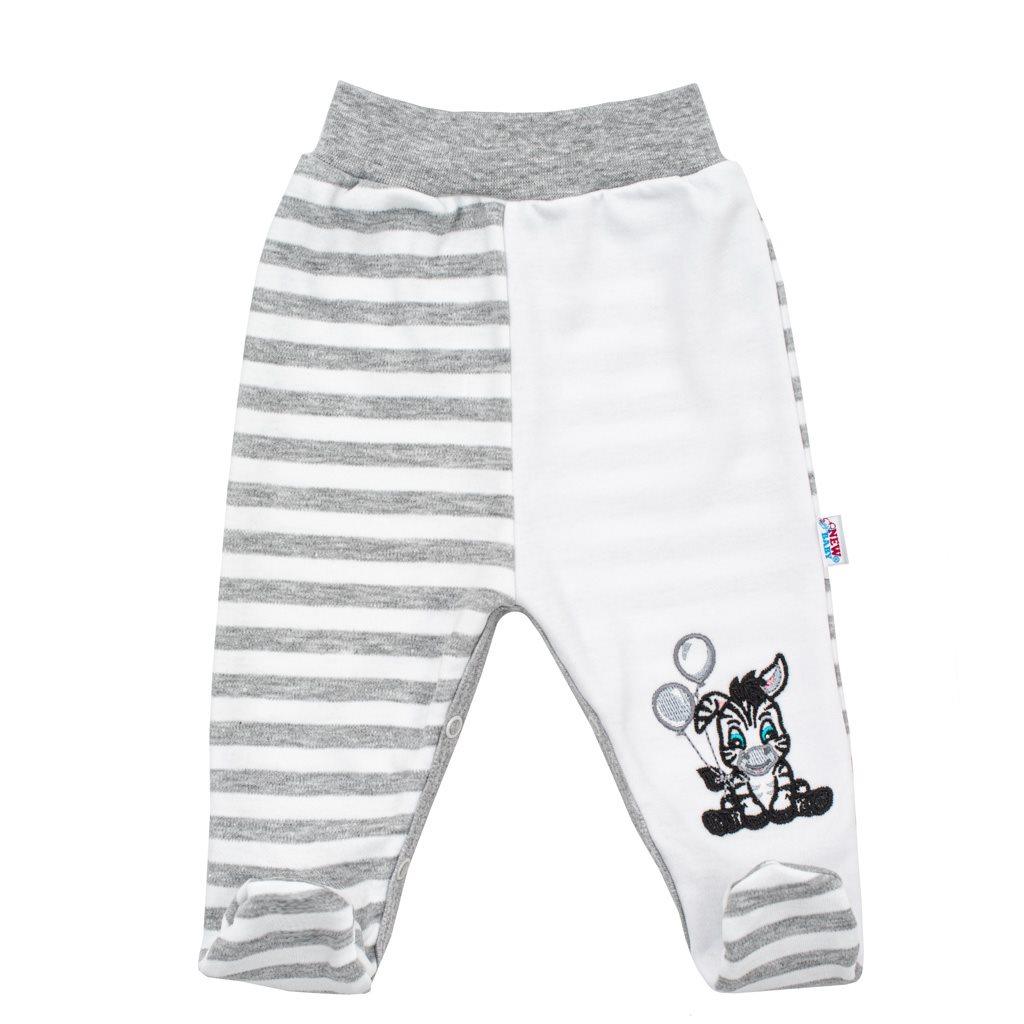 Kojenecké bavlněné polodupačky New Baby Zebra exclusive vel. 56 (0-3m)
