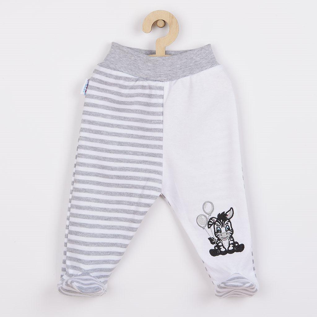 Kojenecké bavlněné polodupačky New Baby Zebra exclusive vel. 62 (3-6m)
