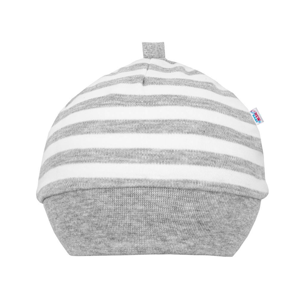 Kojenecká bavlněná čepička New Baby Zebra exclusive vel. 56 (0-3m)