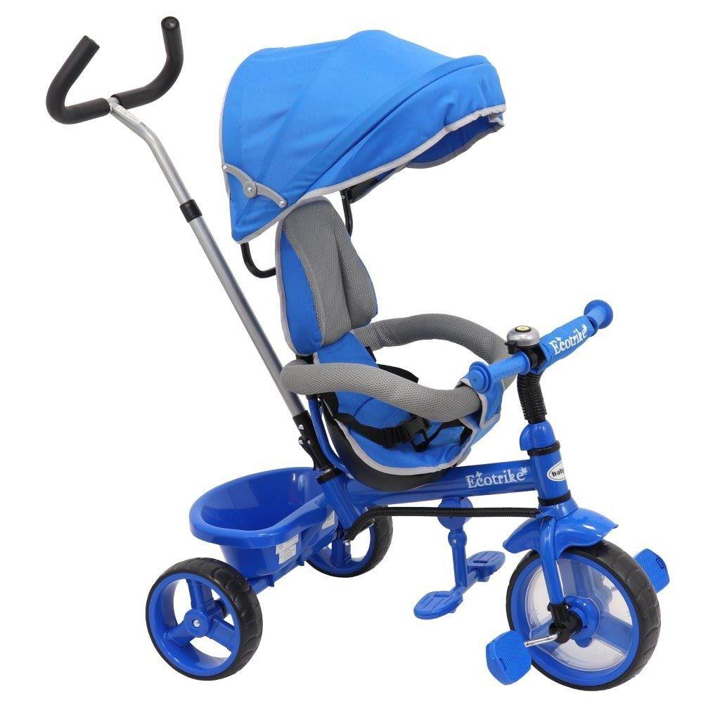 Dětská tříkolka Baby Mix Ecotrike s bezpečnostními pásy light blue