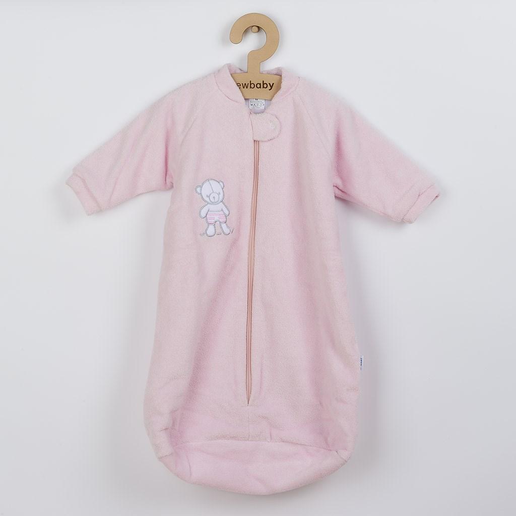 Kojenecký froté spací pytel New Baby medvídek růžový, Velikost: 74 (6-9m)