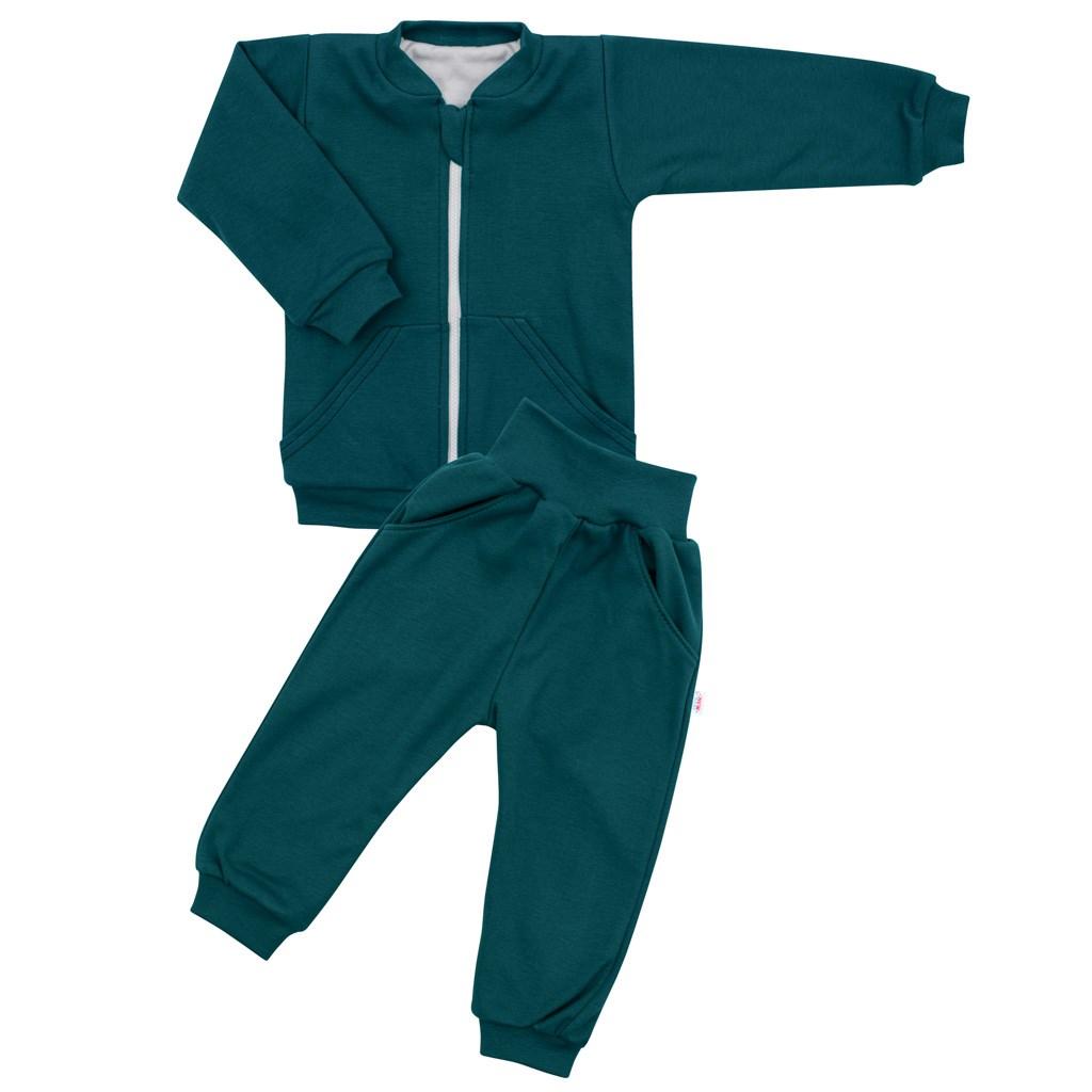 Kojenecké tepláčky a mikinka New Baby Uni smaragdově zelená, 56 (0-3m)