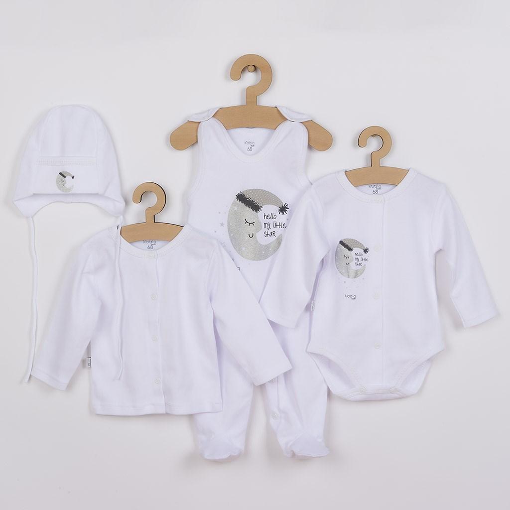 4-dílná kojenecká souprava Koala Moon bílá, Velikost: 62 (3-6m)