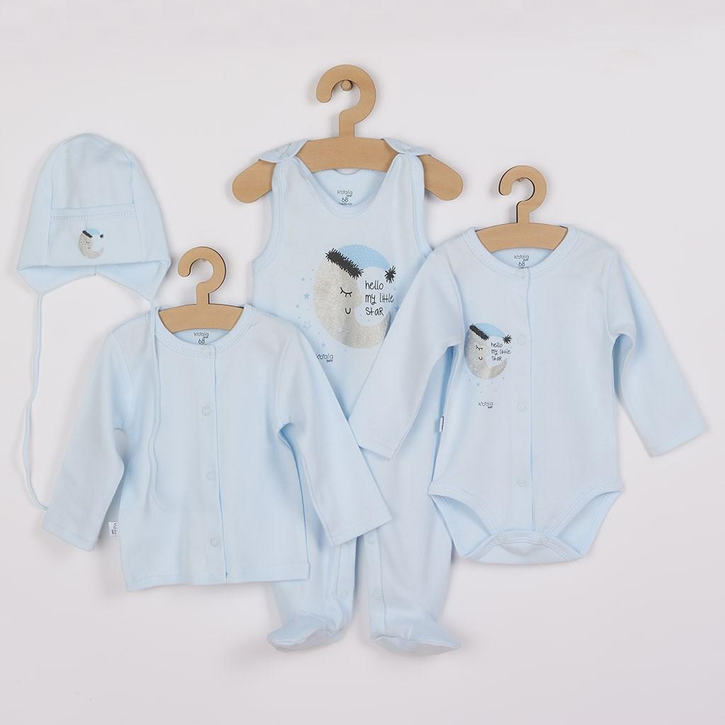 4-dílná kojenecká souprava Koala Moon modrá, Velikost: 62 (3-6m)